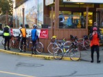 Before the start of the ride at the Utopia Cafe in Chemainus